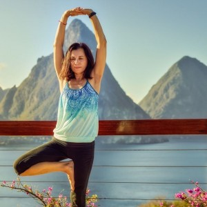 Teaching Yoga at Jade Mountain Resort on St. Lucia